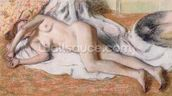 After the Bath or, Reclining Nude, c.1885 (pastel on paper) wall mural thumbnail