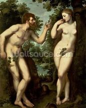 Adam and Eve, c.1599 (oil on panel) wallpaper mural thumbnail