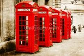Red Telephone Boxes wall mural thumbnail