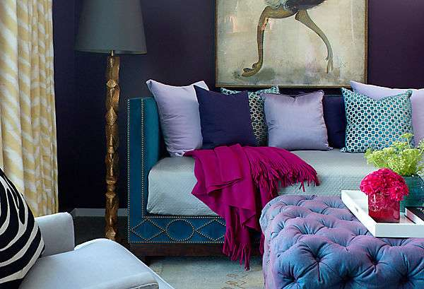 Winter colours interior design