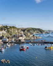 Mevagissey Fishing Village, Cornwall wall mural thumbnail