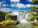 Iguassu Falls from Argentinian side wall mural thumbnail
