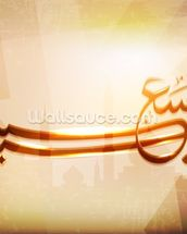 Arabic Islamic calligraphy of Eid saeed, text With modern abst wallpaper mural thumbnail