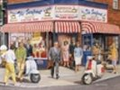 Brighton Cafe Exterior wall mural thumbnail