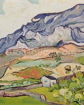 The Alpilles, 1890 (oil on canvas) wall mural thumbnail