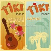 Retro Hawaii mural wallpaper thumbnail