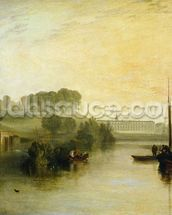 Petworth, Sussex, the Seat of the Earl of Egremont: Dewy Morning, 1810 (oil on canvas) mural wallpaper thumbnail