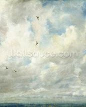 Cloud Study, 1821 (oil on paper laid down on board) wallpaper mural thumbnail