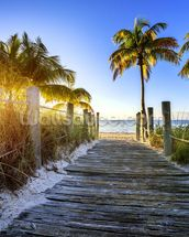 Boardwalk Sunrise mural wallpaper thumbnail