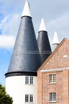 Oast Houses Kent mural wallpaper thumbnail
