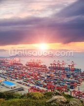 Port of Shanghai wall mural thumbnail