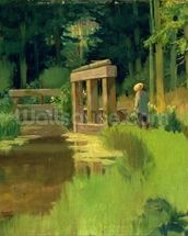 In a Park (oil on canvas) wallpaper mural thumbnail