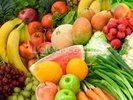 Vegetables and Fruits Arrangement wall mural thumbnail