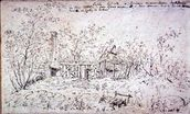 Cottage at East Bergholt wall mural thumbnail