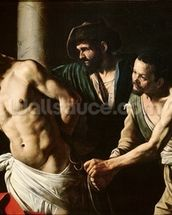 The Flagellation of Christ, c.1605-7 (oil on canvas) wall mural thumbnail