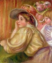 Coco and the two servants, 1910 mural wallpaper thumbnail