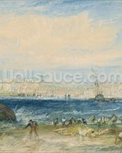 Margate, c.1822 (w/c & scraping out on wove paper) mural wallpaper thumbnail