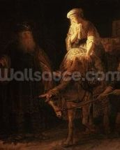 The Departure of the Shemanite Wife (oil on canvas) wall mural thumbnail