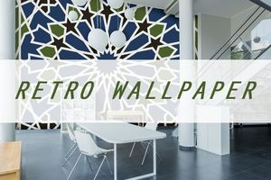 Retro Wallpaper for 60s and 70s Home Decor