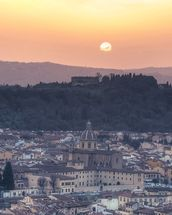 Florence Sunset wallpaper mural thumbnail
