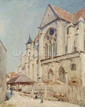 The Church at Moret (oil on canvas) wall mural thumbnail