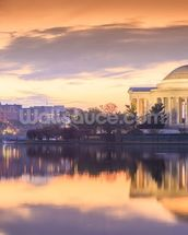 The Jefferson Memorial mural wallpaper thumbnail