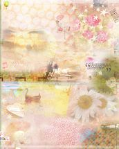 Pink Happiness Is a Journey wallpaper mural thumbnail