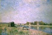 The Loing at Saint-Mammes, 1884 wall mural thumbnail