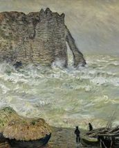 Rough Sea at Etretat, 1883 (oil on canvas) wall mural thumbnail