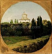 View of the Villa Medici, Rome (oil on canvas) wall mural thumbnail