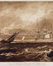 The Leader Sea Piece, engraved by Charles Turner (1773-1857) 1859-61 (engraving) wall mural thumbnail