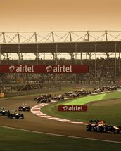 Indian Grand Prix 2013 wall mural thumbnail