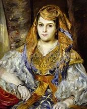 Mme. Clementine Stora in Algerian Dress, or Algerian Woman, 1870 (oil on canvas) wall mural thumbnail