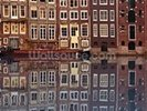 Amsterdam Houses Reflection wall mural thumbnail