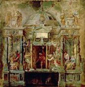 Temple of Janus, 1630s (oil on canvas) wall mural thumbnail