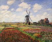 Tulip Fields with the Rijnsburg Windmill, 1886 (oil on canvas) wallpaper mural thumbnail