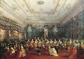 Gala Concert given in January 1782 in Venice for the Tsarevich Paul of Russia and his wife, Maria Feodorovna (oil on canvas) wallpaper mural thumbnail