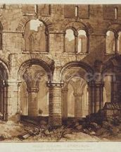 Holy Island Cathedral, engraved by Charles Turner (1773-1857) 1808 (engraving) wall mural thumbnail