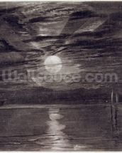 Shields Lighthouse, c.1825 (mezzotint) wallpaper mural thumbnail