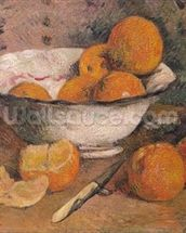 Still life with Oranges, 1881 (oil on canvas) wallpaper mural thumbnail