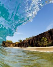 Hawaii, Makena Beach, Beautiful Wave Breaking Along Shore mural wallpaper thumbnail