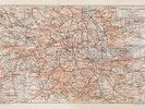 Vintage Map of London wall mural thumbnail