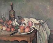 Still Life with Onions, c.1895 (oil on canvas) wall mural thumbnail