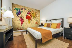 5 World Map Wall Mural Ideas