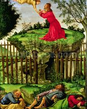The Agony in the Garden, c.1500 (oil on canvas) wallpaper mural thumbnail