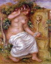 The Bather at the Fountain, 1914 wall mural thumbnail