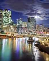 Brisbane at Night mural wallpaper thumbnail