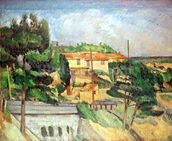 Viaduct at Estaque (oil on canvas) wallpaper mural thumbnail