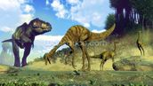 Tyrannosaurus Rex Attacking wallpaper mural thumbnail