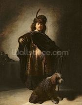 Self Portrait in Oriental Costume, 1631 (oil on panel) mural wallpaper thumbnail